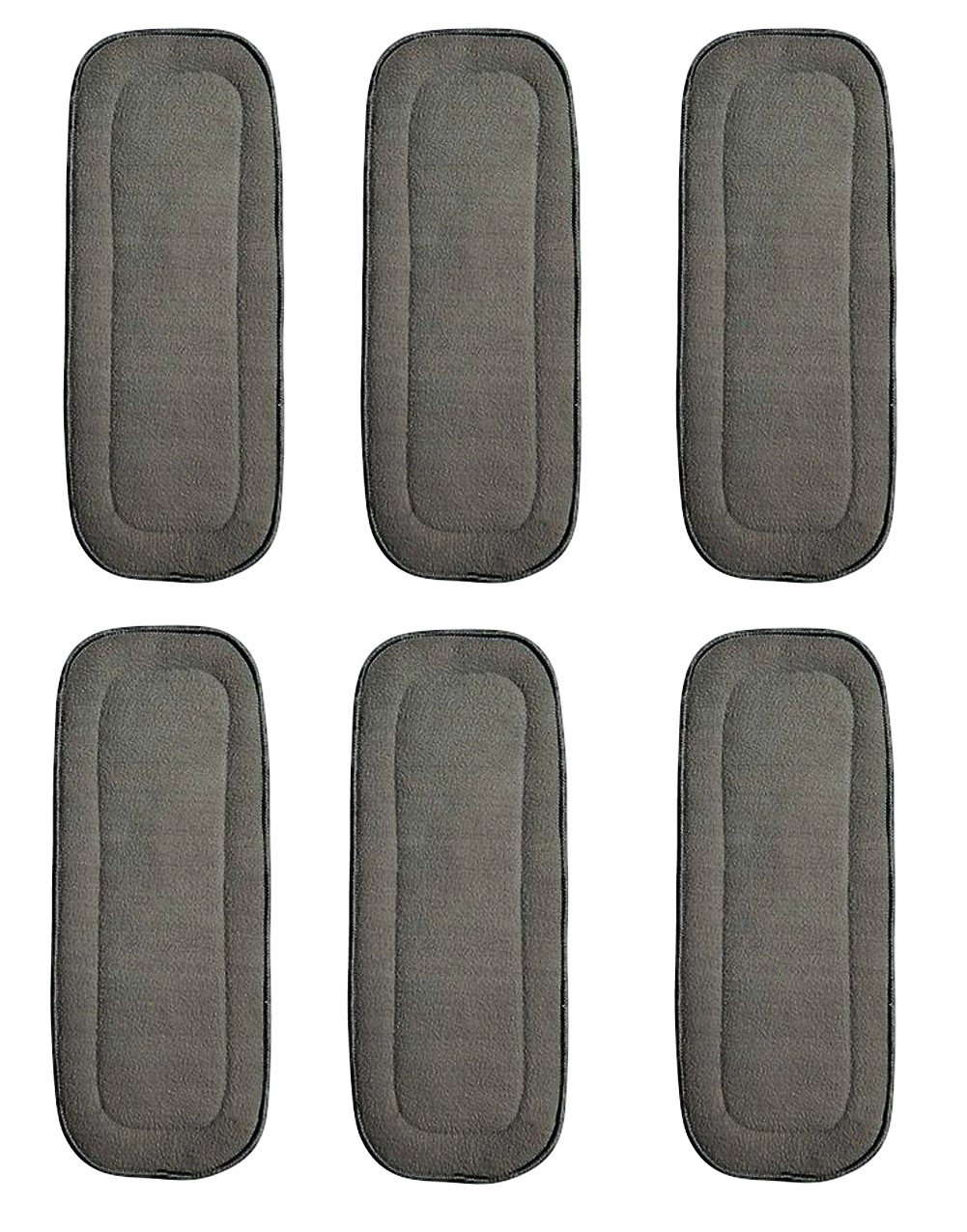 6 Pack Bamboo Charcoal Inserts 5 Layers for Cloth Diapers Washable Large 14 X 5 See Diapers