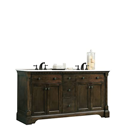 Legion Furniture WLF6036 60 Quot  Double Sink Vanity In Carrara Marble
