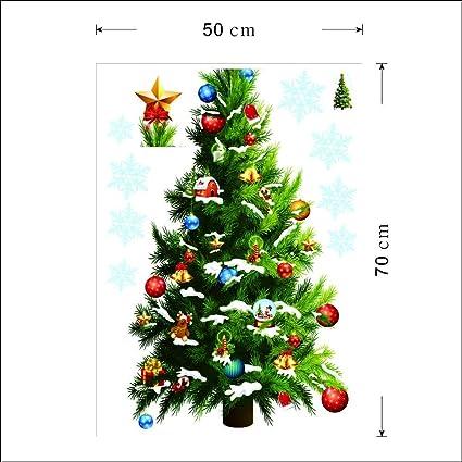 nicedeal merry christmas home decor vinyl wall stickerchristmas tree christmas star snowflakes wall decals - Amazon Christmas Home Decor