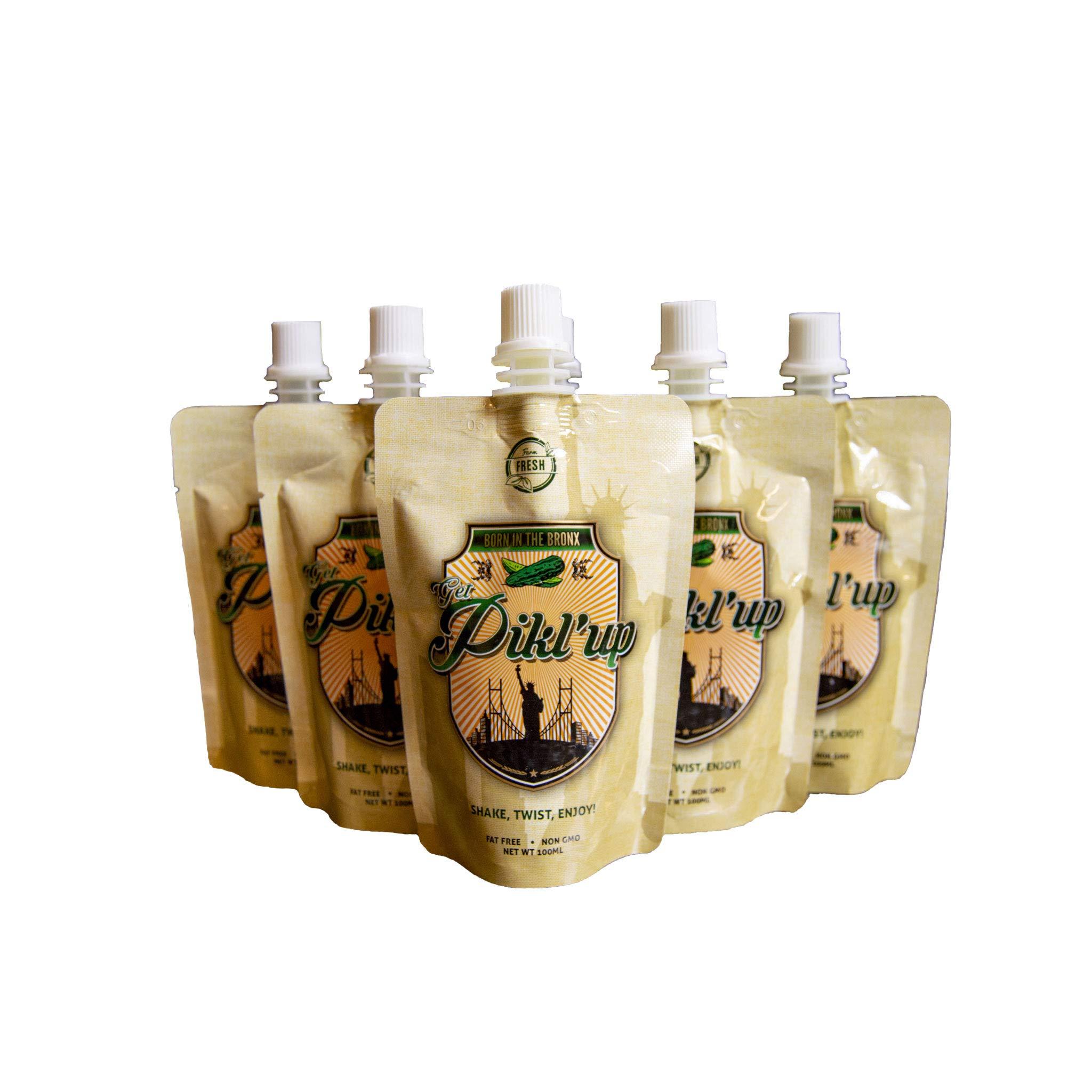 Get Pikl'ed Kosher Dill Pickle Juice Shots for Cramps, Pickle Juice Sports Drink, Pickle Power Juice, Extra Strength Pickle Juice Shots, Pickle Brine Juice, Pickle Juice Chaser, 3.4 Fl Oz - 6 pack