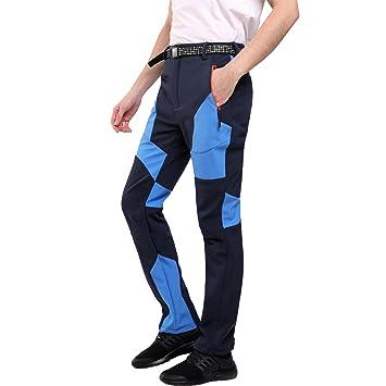 Sidiou Group Pantalones de Trekking Hombre Pantalones de Softshell Pantalones de montaña Al Aire Libre Pantalones Impermeables Resistente al Viento ...