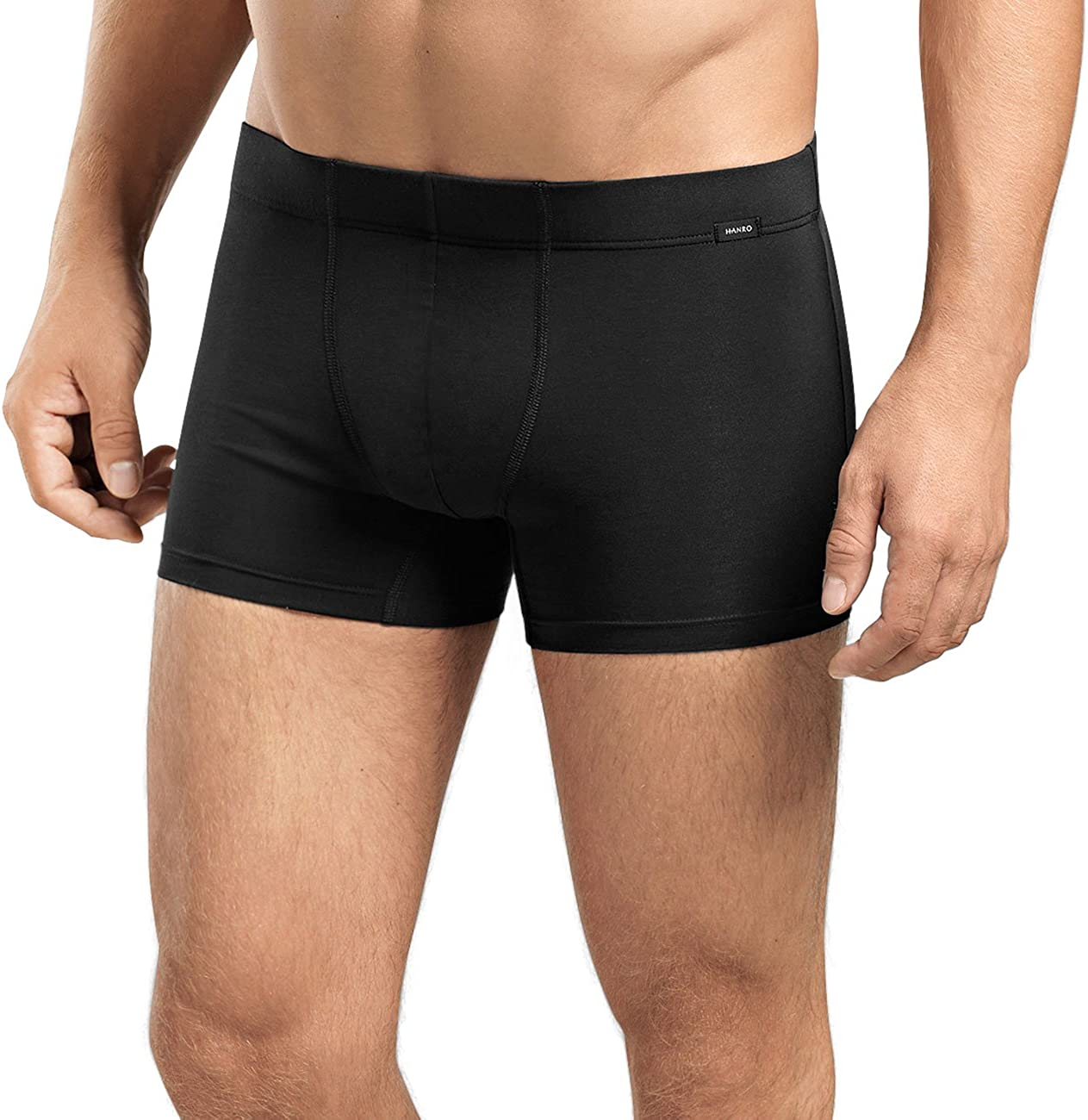 HANRO Men's Cotton Essentials 2-Pack Boxer Brief with Covered Waistband