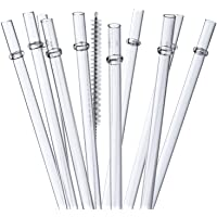 """ALINK 10.5"""" Long Reusable Clear Plastic Drinking Straws for 30 oz Tervis, Yeti/Rtic Tumblers, Signature, Starbucks…"""