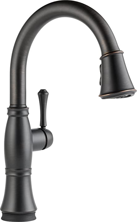 Delta Faucet 9197T-RB-DST Cassidy, Single Handle Pull-Down Kitchen ...