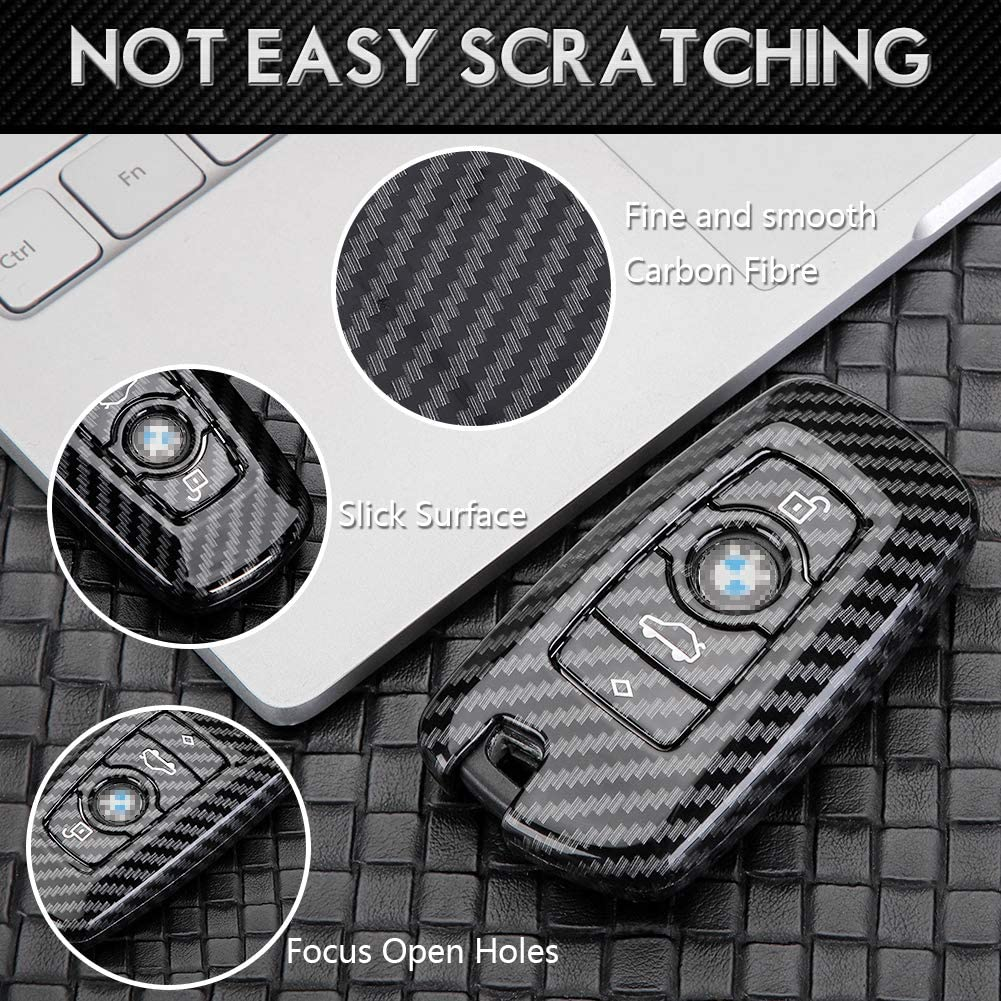 1pc Gloosy Black DOHON Key Fob Remote Cover for BMW Carbon Fiber Key Protective Case for BMW X3 X4 GT3 GT5 1 2 3 4 5 Series