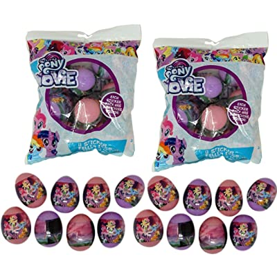 Paper Magic Sticker Filled Eggs (16 Count) for Easter Eggs Hunt, Decor, Baskets (My Little Pony): Toys & Games