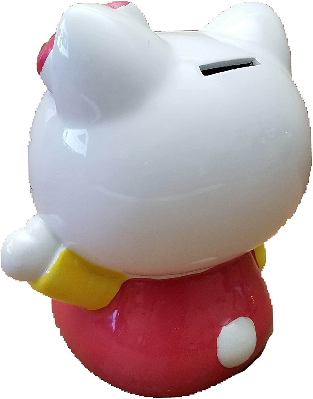 Boys 1pc Cherish Ceramic Hello Kitty Bank Piggy Bank for Girls Mini-Piggy Coin Bank Frist Saving Box for Kids Saving Fun Hand Painted