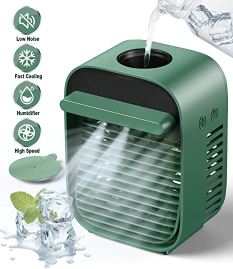 Bladeless Air Circulator Aroma Diffuser Mini Table Fan Use with Vicks Vapopads