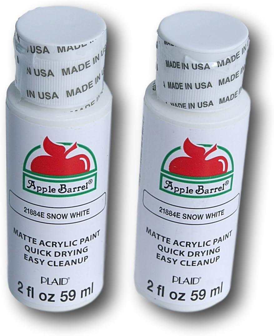 Apple Barrel Acrylic Paint Set - Snow White (2 Ounces Each)