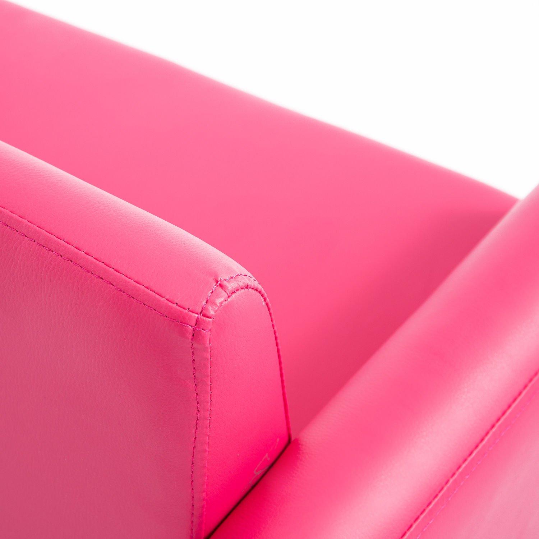 Qaba 33 Kids PU Leather Storage Sofa - Pink by Qaba (Image #6)