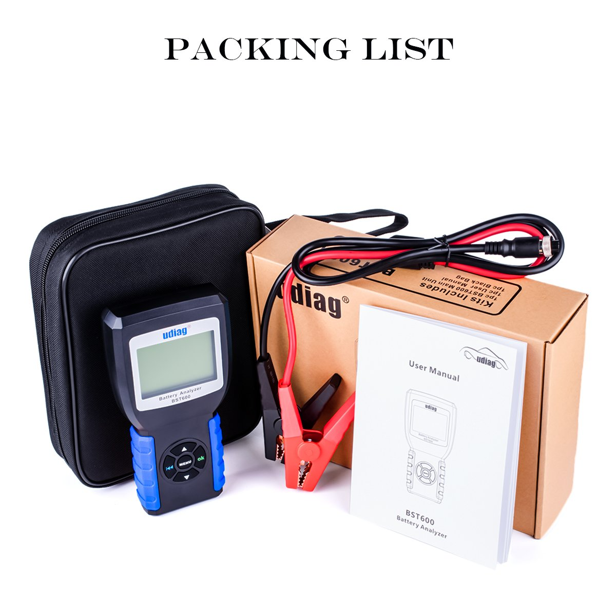 Car Battery Tester, Udiag BST600 Car Battery Load Tester for 12V 100-2000CCA 30-200AH Auto Regular Flooded AGM Flat Plate Gel Batteries Starting and Charging System Blue by udiag (Image #7)