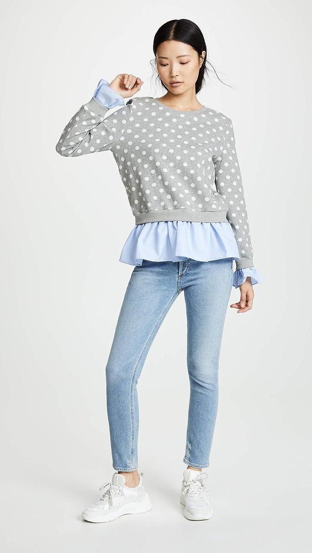 English Factory Womens Polka Dot Combo Sweatshirt