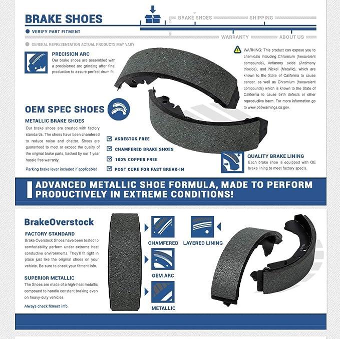 CSK01099 REAR Premium Advanced Metallic Formula Chamfered PARKING Brake Shoes