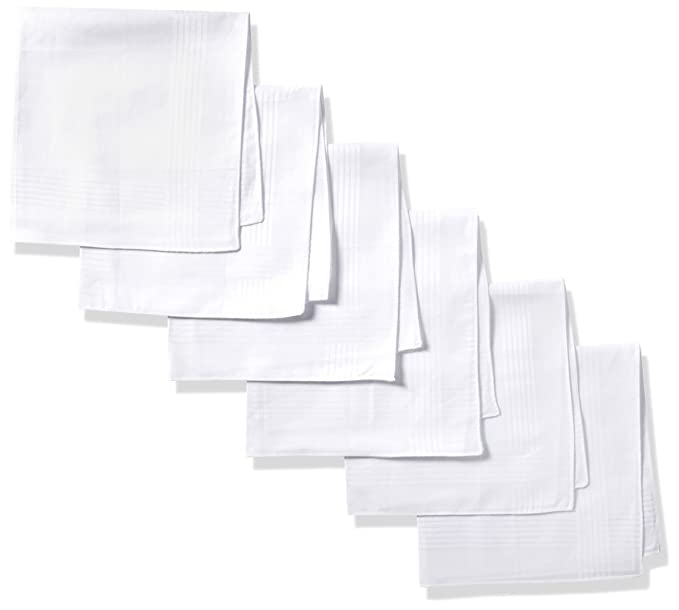 59f8b568409d Dockers Men's 13 Piece Permanent Press Hankies, White, One Size at ...