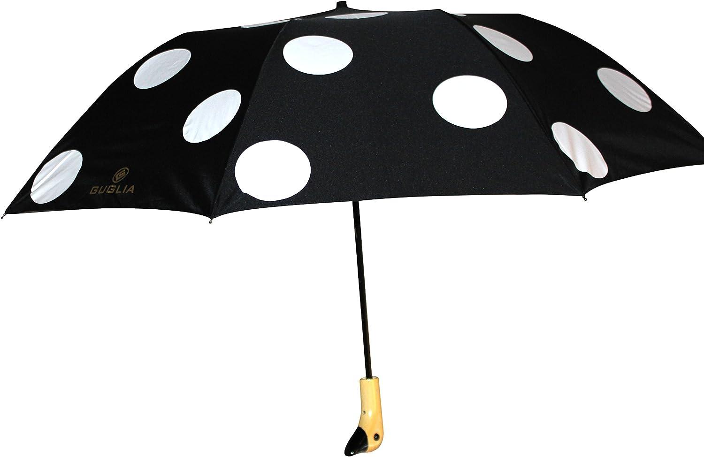 totes Basic auto open umbrella ~ 42 Coverage ~ Colorful dots on black