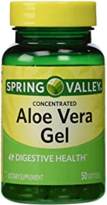 Spring Valley - Aloe Vera Gel 25 mg, Concentrated Extract, 50 Softgels