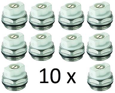 plus grand choix de où acheter qualité incroyable Lot de 10 bouchons de robinet de purge de radiateur manuel de 1/2