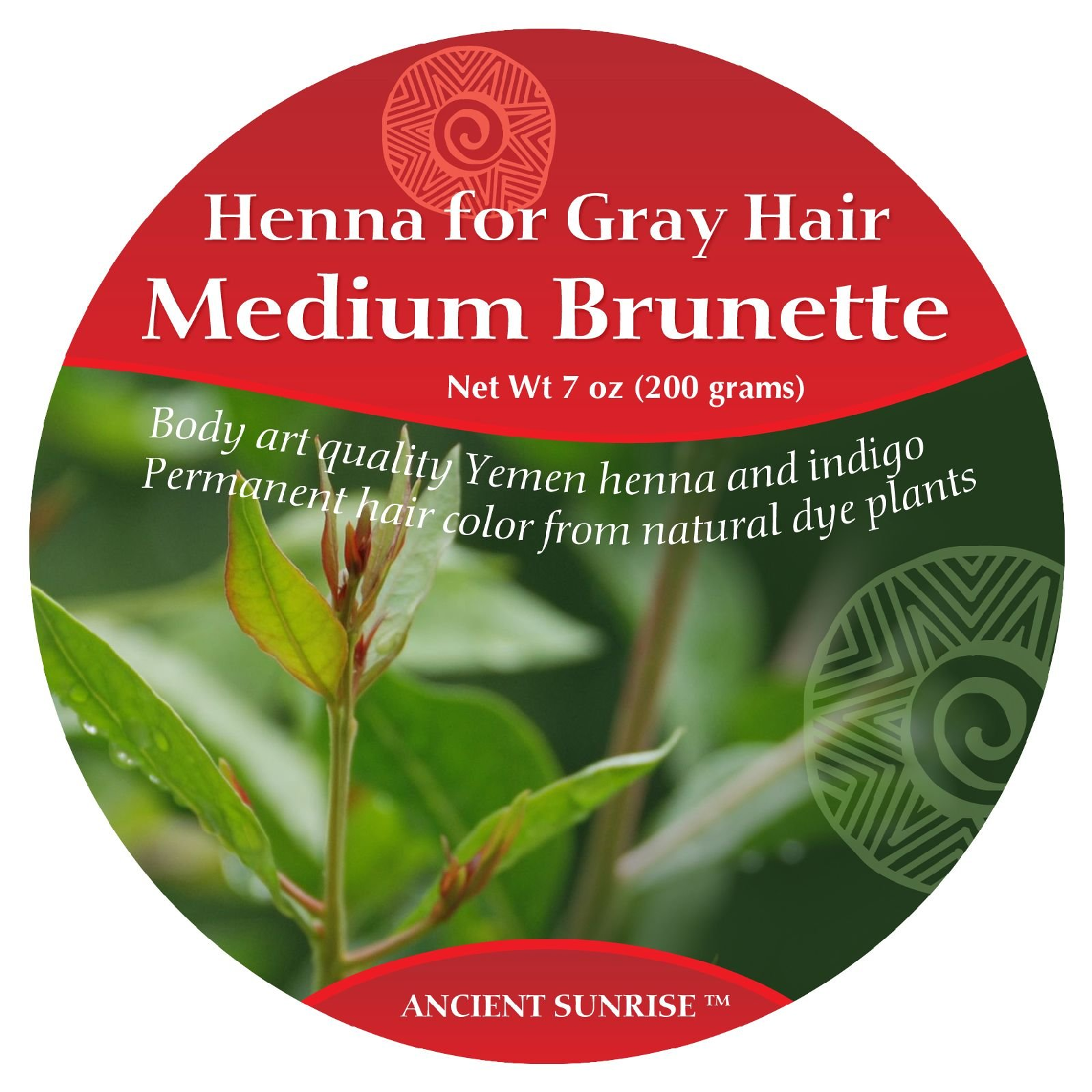 Ancient Sunrise Henna For Gray Hair Medium Brunette Kit by Ancient Sunrise