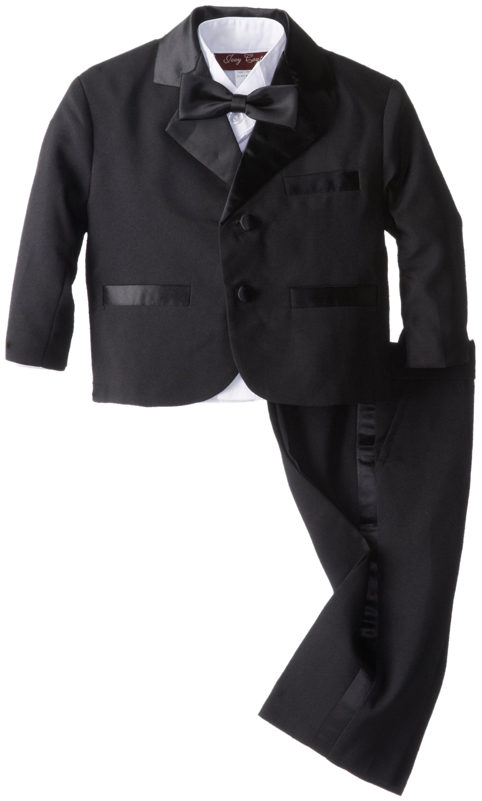 Joey Couture Baby Boys' Tuxedo Suit No Tail, Black, 18 Months/Large by Joey Couture