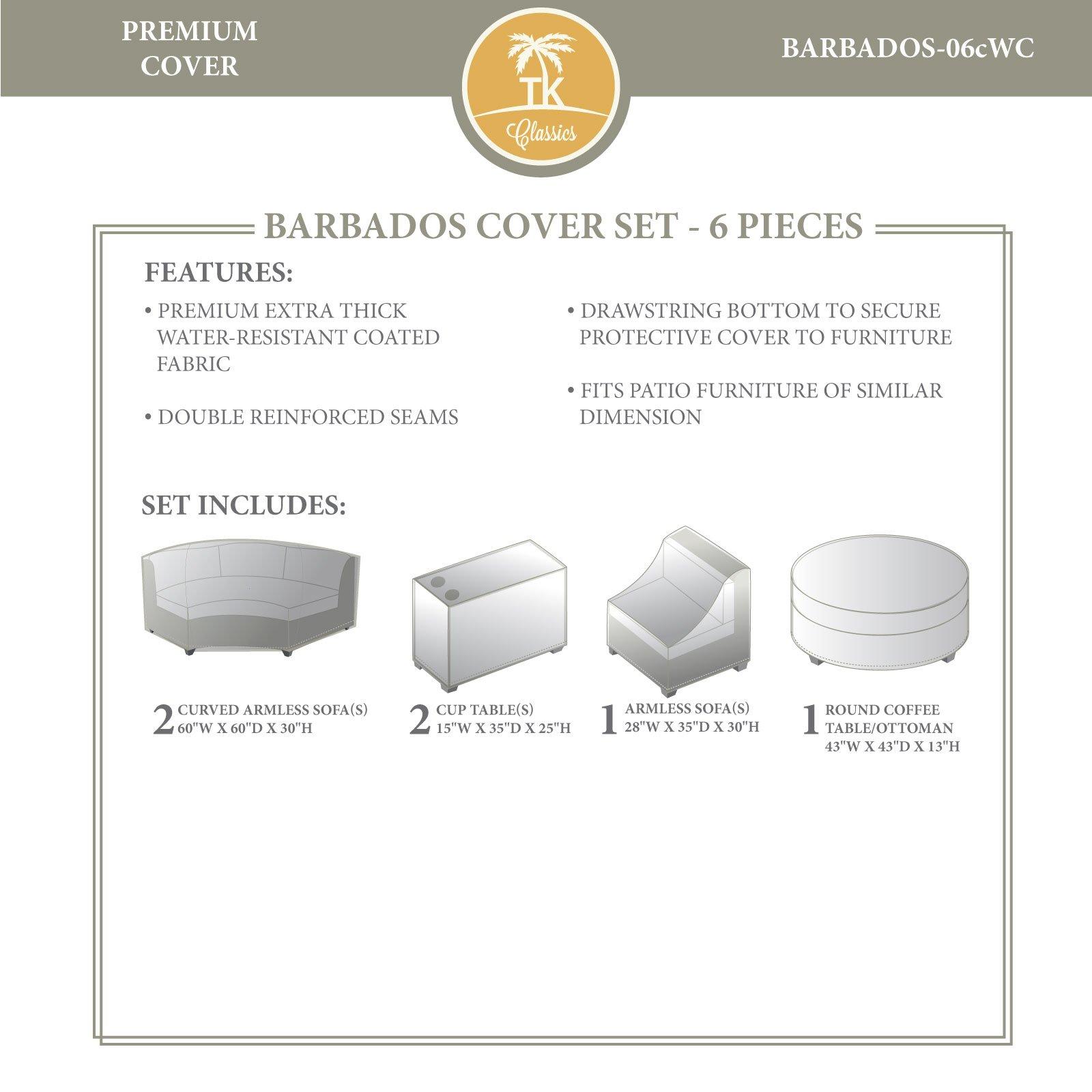 TK Classics BARBADOS-06cWC Barbados Winter Cover Set