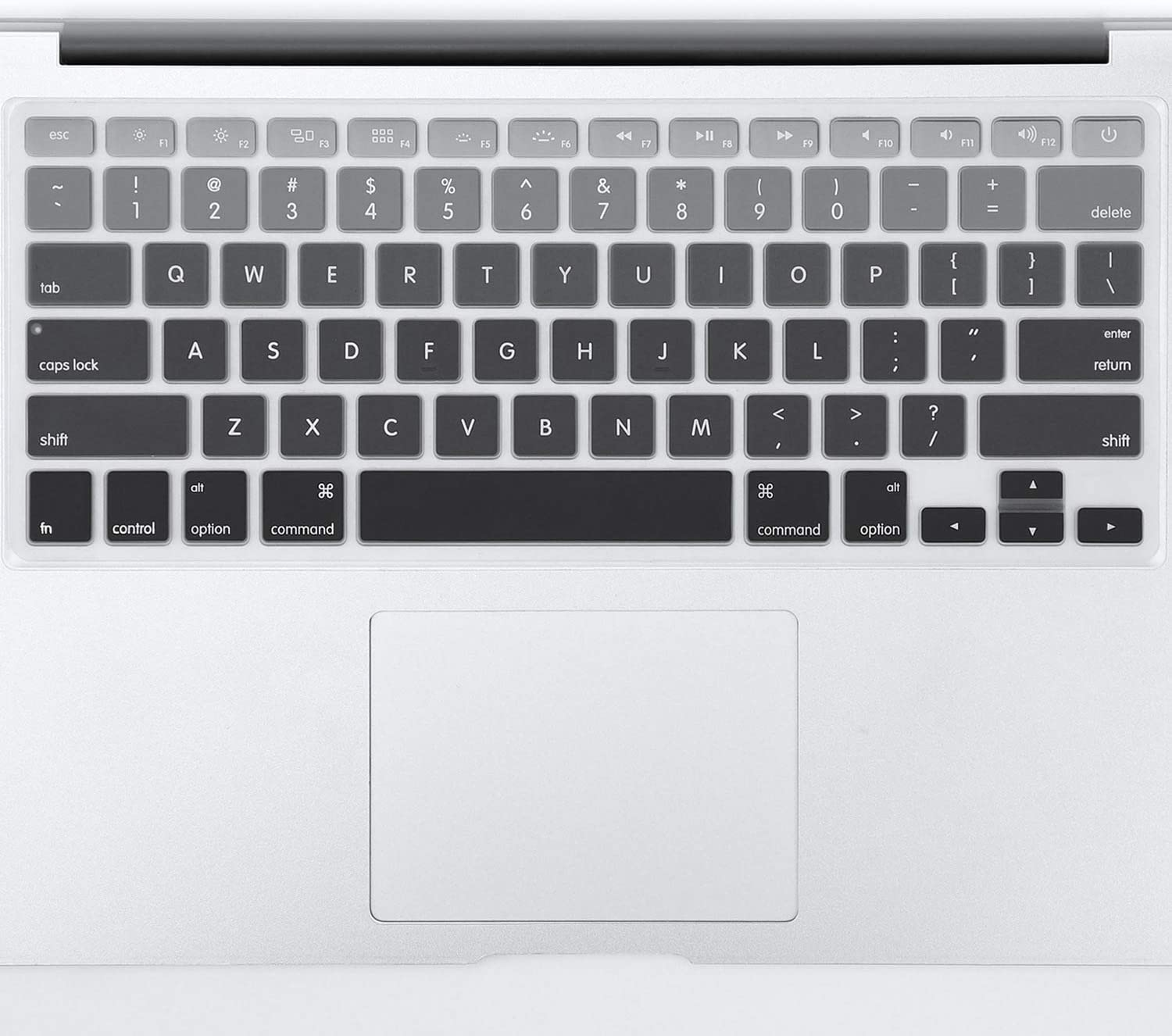 Gradient Ombre Colors US Layout Keyboard Cover Silicone Skin for MacBook Pro 13 15 17 Retina-US English Grey