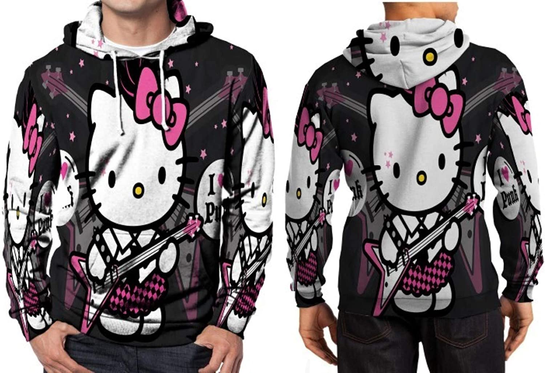 Mens Hello Kitty TV Series Zipper Hooded Sweatshirt