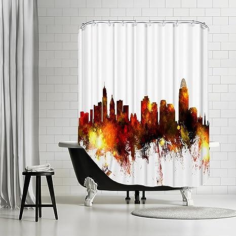 Amazoncom American Flat Cincinnati Ohio Skyline 3 Art