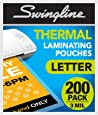 Swingline Thermal Laminating Pouch, Letter Size, Standard Thickness, 200/Pack (3202062)