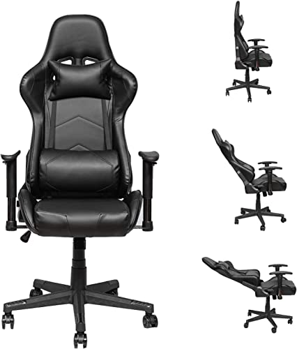 Gaming Chair Racing Office Computer Game Chair Height Adjustment Recliner Swivel Rocker