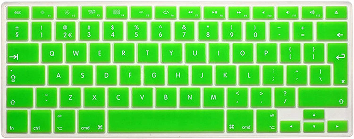 Zhanghouselan Silicone UK EU English Keyboard Cover Skin Protector Sticker Film for MacBook White Air Pro 13 15 17 for Mac Book Air 13,White