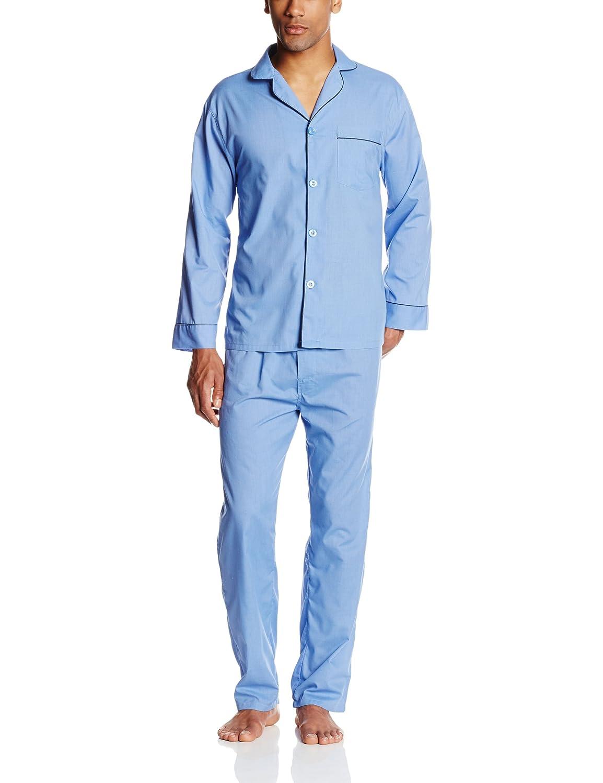 Hanes Men's Big-Tall Woven Pajama Set Blue XX-Large Hanes Sleepwear 91002x