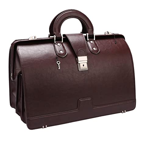 36afd83b73c1 Ronts Lawyer's PU Leather Briefcase for Men 15.6 Inch Laptop Bag Shoulder  Bag Attach Case with Lock,Brown