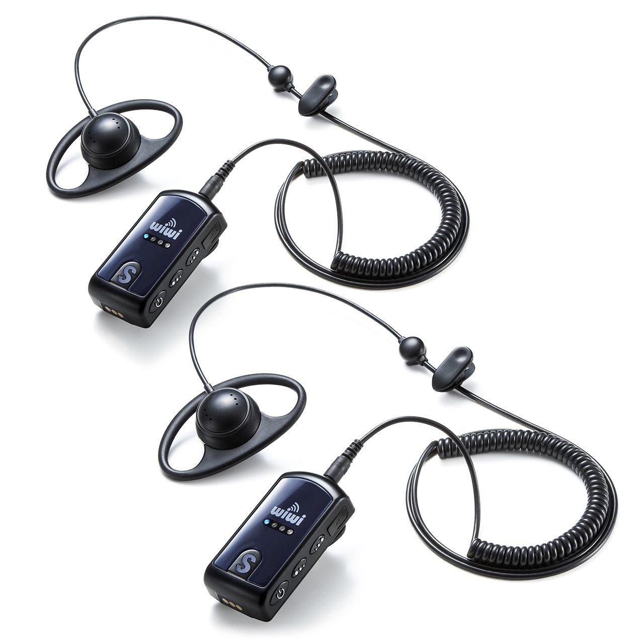 サンワダイレクト ワイヤレスガイド システム 【2台セット】 ガイド用イヤホンマイク 多人数での無線機 最大255台接続 400-HSGS001-2 B071WNJHQ3  2個セット