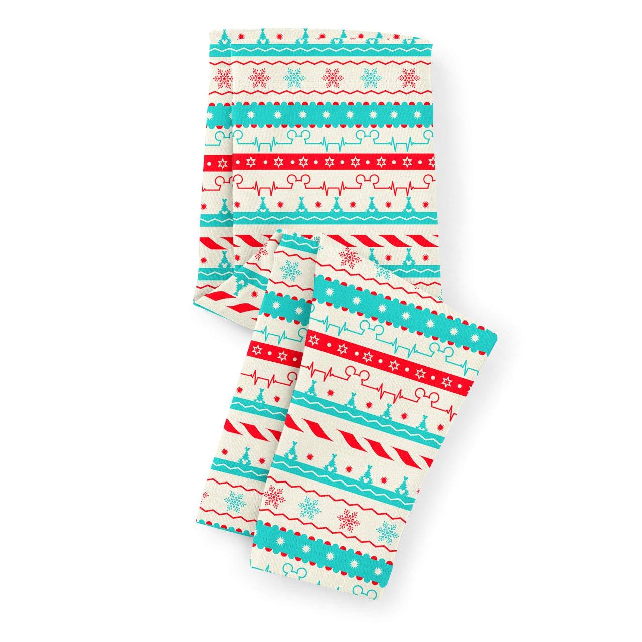 Christmas Candycane Disney Heartbeat Kids Leggings