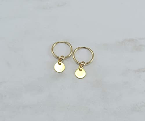 Sterling silver hoops with sterling oval discs