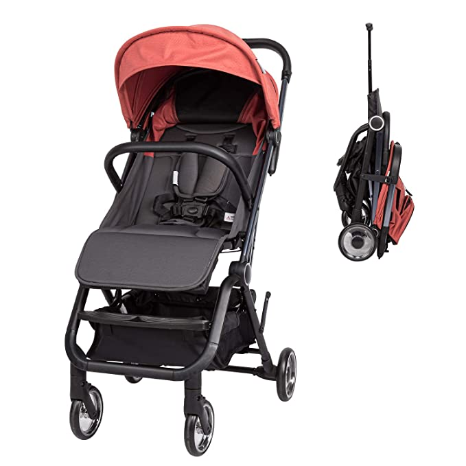 Easy Fold Lightweight Travel Stroller with Large Storage Basket and Adjustable Umbrella Kinbor Toddle Baby Stroller with Multi-Position Recline