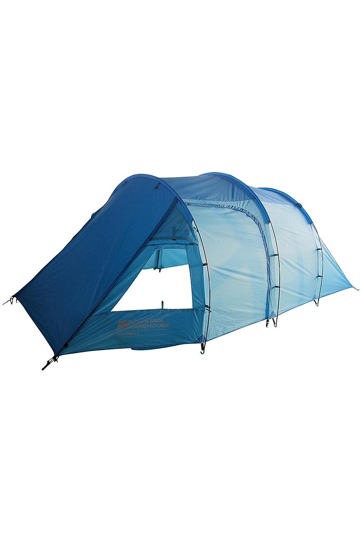 Mountain Warehouse Mini Break Doppelschichtiges 3-Personen-Campingzelt in Tunnelform - Eingangsbereich, Zeltboden, Wasserabweisend, Mückenschutz - Für Festivals