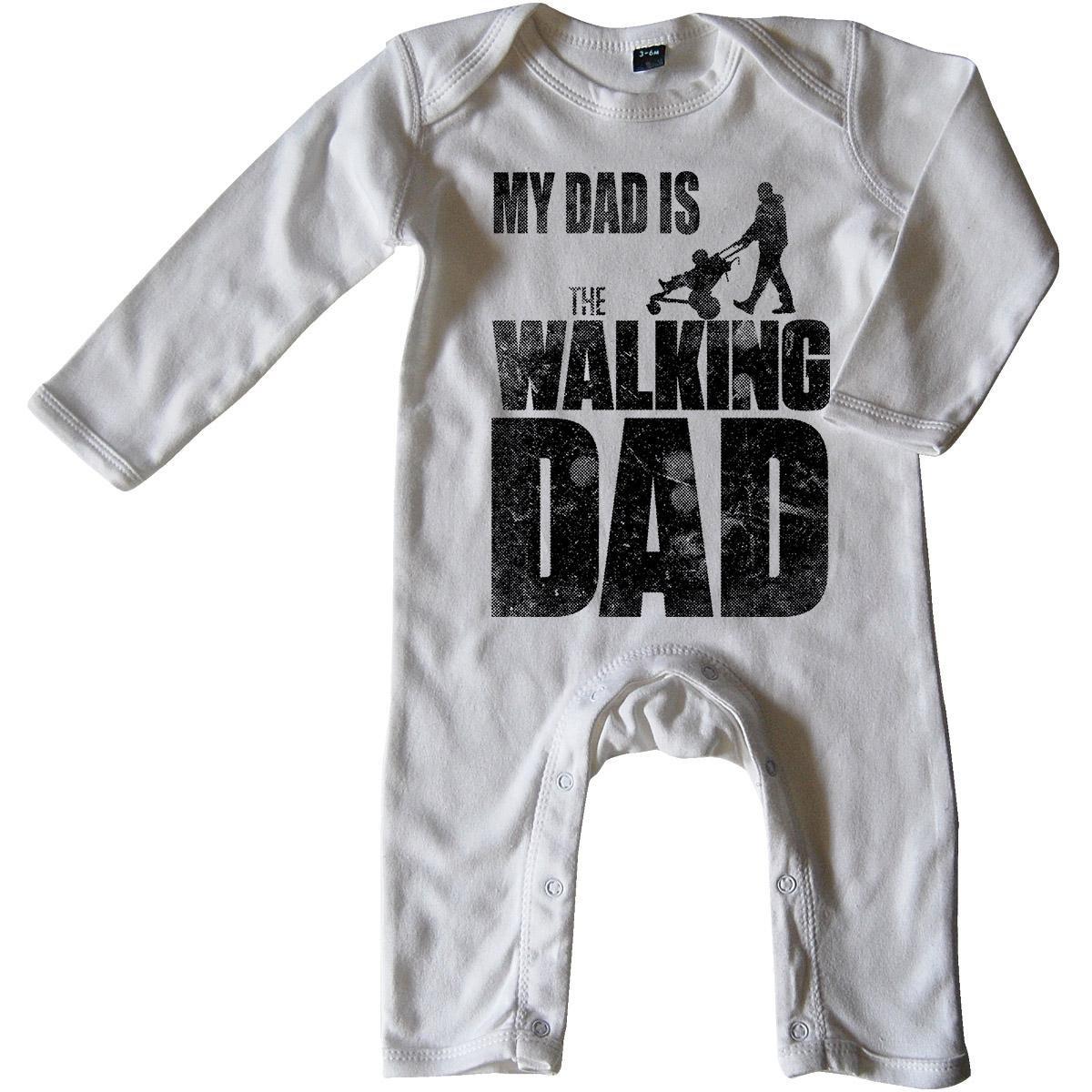 Mikalino Baby Schlafanzug My Dad is The Walking Dad Langarm