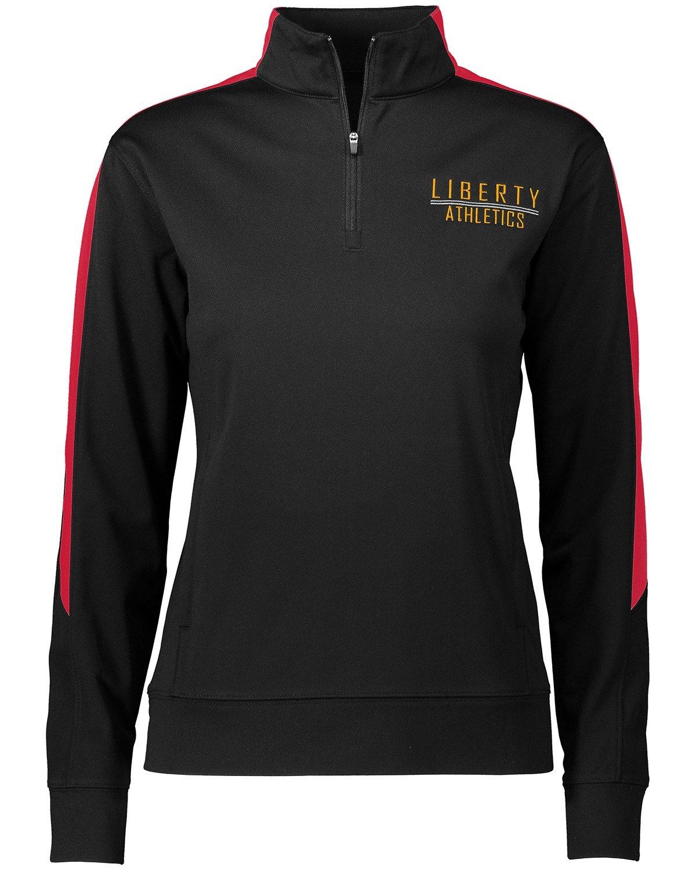 Augusta Sportswear Women's Medalist 2/0 Pullover, Black/Red, Small