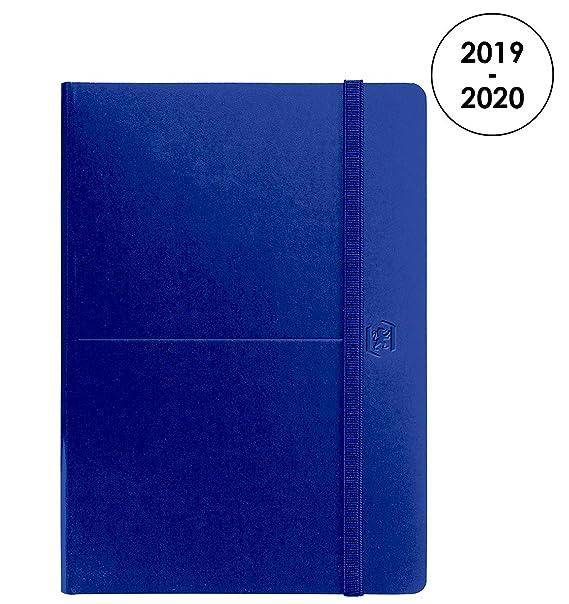 Oxford - Agenda Artist 2019 – 2020 de agosto a agosto (1 día por página, formato 15 x 21 cm), color azul
