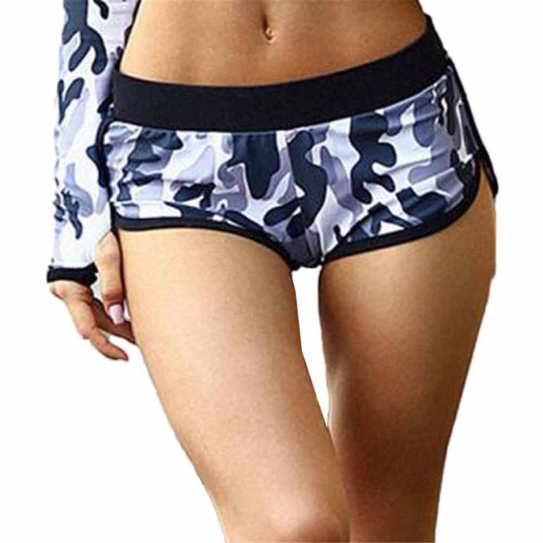 Frozac Women Camouflage Printing Sport Running Shorts Low ...