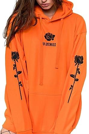 dafc71f775bd Minga London No Enemies Hoodie Sweater Jumper Sweatshirt Top Women s ...