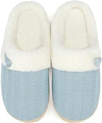Women's Slip on Fuzzy Slippers Memory Foam House Slippers