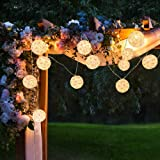 """Bright Zeal 20' LED Silk-Like Cloth Lantern String Lights Outdoor (Pink Flamingo, 3"""" Inches Big) - 2 PCS 10' Battery…"""