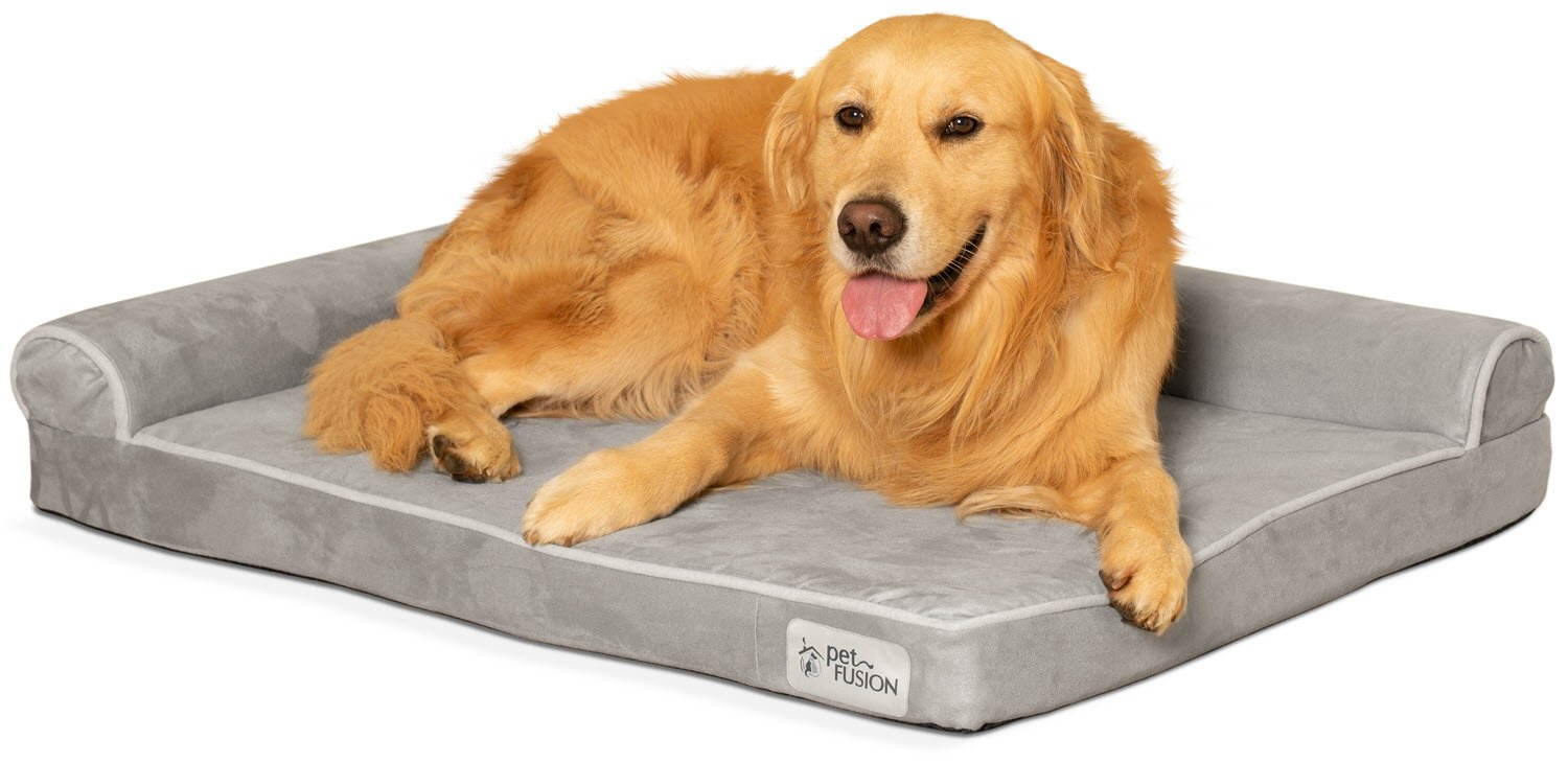 PetFusion BetterLounge Dog Bed w solid orthopedic Memory Foam, Waterproof foam liner, YKK zippers. Easy clean, removable micro-suede cover . 1 yr Warranty