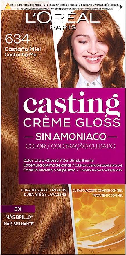 LOreal Paris Casting Crème GlossColoración Sin Amoniaco, Tono: 634 Castaño Miel