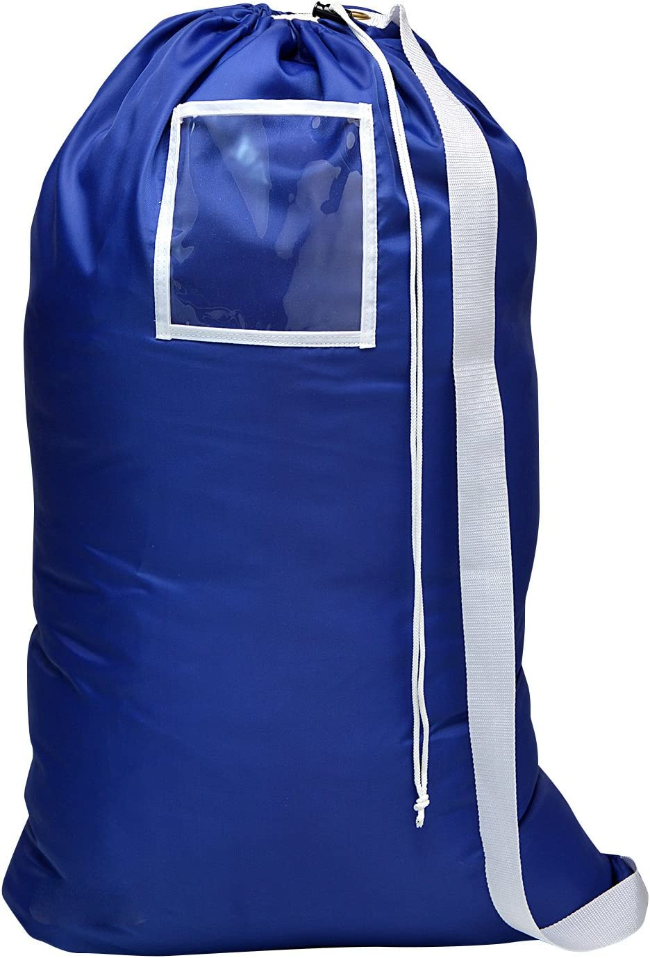 Carry Laundry Bag From Handy Laundry with Shoulder Strap, Large Size 24 Inches X 36 Inches, Commercial Grade 100% Nylon and Made in the USA - Designed for Heavy Duty Use - College Laundry Bag - Trips to Laundromat - Household Storage (Royal Blue)