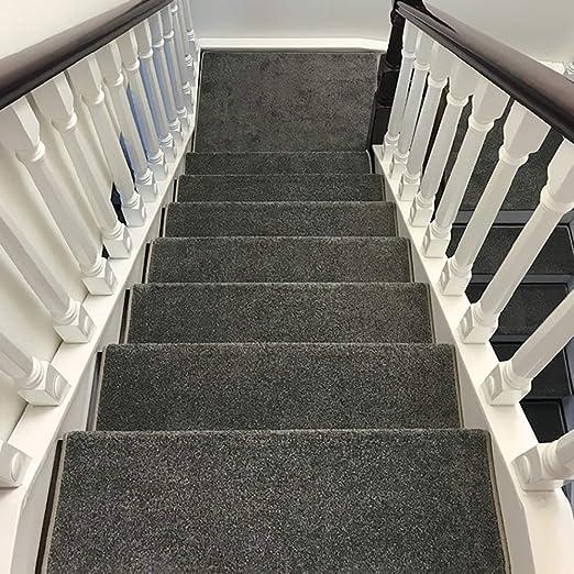 YHEGV Almohadillas para escaleras Madera autoadhesiva Almohadillas para escalones Grises para Uso doméstico Alfombras para escaleras Antideslizantes Tamaño de la Alfombra de la Escalera Opcional (: Amazon.es: Hogar