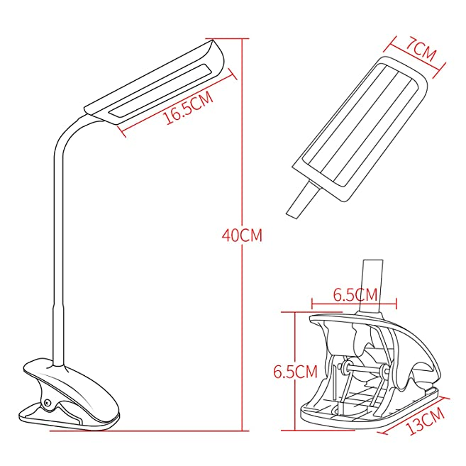 Nickoo Dimmable Eye Care Led Desk Lamp 7w Flexible Gooseneck 3