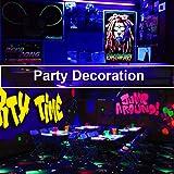Escolite 7.5W UV LED Black Light Bulbs, A19 E26/E27 Medium Base Black light Bulb Glow in Dark, UVA Level 395-400nm, UV Light Blub for Blacklight Party, Body paints, Fluorescent Poster, Wedding